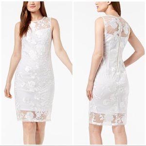 NWT Calvin Klein white lace dress